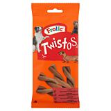 Hrana uscata complementara pentru caini adulti Frolic Twistos, cu vita, 6 buc, 105 g