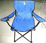 Scaun pentru camping Deluxe, poliester/otel inoxidabil, 50x50x80 cm, Verde/Albastru