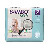 Scutece ecologice pentru bebelusi, Bambo Nature, marimea 2, 3-6 kg, 30 bucati