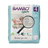 Scutece ecologice pentru bebelusi, Bambo Nature, marimea 4, 7-14 kg, 24 bucati