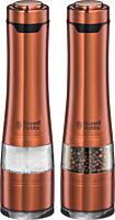 Rasnite electrice de condimente Russell Hobbs Copper 28011-56, Lumina incorporata, Sistem ceramic ajustabil, Cupru