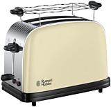 Prajitor de paine Russell Hobbs 23334-56, 1100W, 2 Felii, Gratar pentru chifle, Bej