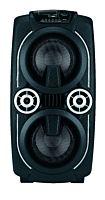 Boxa portabila Poss PSPARTY120, 120 W RMS, Microfon, Acumulator, FM Radio, USB, Negru