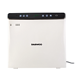 Purificator de aer si umidificator Daewoo DAP400, 75 W, 300 m3/h, filtru HEPA13, rezervor apa 2.5 Litri, Alb