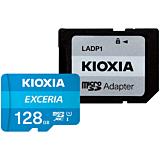 Card memorie Kioxia Exceria MicroSDXC 128GB, Clasa 10 + adaptor