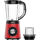 Blender Heinner HBL-500RRD, 500W, 2 viteze + Pulse, capacitate 1.5l, rasnita inclusa, Rosu
