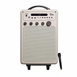 Boxa tip troller, E-boda Retro Karaoke 100, bluetooth, microfon, Crem