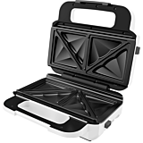 Sandwich-maker Tefal SW701110, 850W, 2 seturi de placi detasabile, Alb/Gri