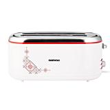 Prajitor de paine Daewoo DBT90TR, 1500 W, design traditional, control electronic rumenire, Alb