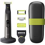 Aparat de tuns barba si parul corporal Philips OneBlade Pro QP6650/61, pieptene cu 14 lungimi, pieptene corp, autonomie 120 min, Gri