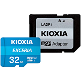 Card memorie Kioxia Exceria MicroSDXC 32GB, Clasa 10 + adaptor