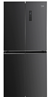 Side by side Beko GNO4031GS, 401 Litri, Clasa A+, NeoFrost Dual Cooling, Display touch, H 180 cm, Gri antracit