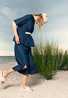 Pantaloni fluizi cu slituri laterale, Irina Schrotter x TEX
