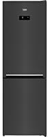 Combina frigorifica Beko, RCNA366E40ZXBRN, 324 Litri, H 185.2cm, Clasa E, Gri, HarvestFresh, Neofrost Dual Cooling, Everfresh+