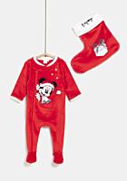 Salopeta Disney Craciun bebe 0/23 luni