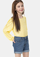 Pantaloni scurti jeans fete 3/14 ani