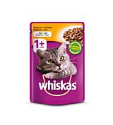 Hrana umeda completa pentru pisici adulte cu pui in aspic Whiskas 100g