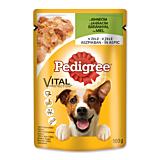 Hrana umeda completa pentru caini adulti cu miel in aspic Pedigree 100g