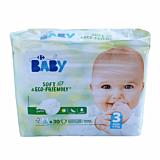 Scutece ecologice Carrefour Baby pentru bebelusi, Marimea 3, 4-9 kg, 30buc
