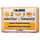 Sapun de Marsilia cu pepene galben si busuioc Nectar of Beauty Les Cosmetiques 2x100g