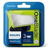 Rezerva aparat de ras Philips One Blade QP230/50 kit 3 lame, Verde
