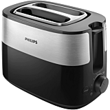 Prajitor de paine Philips HD2515/90, 830 W, 2 felii, 8 setari, Negru/Inox