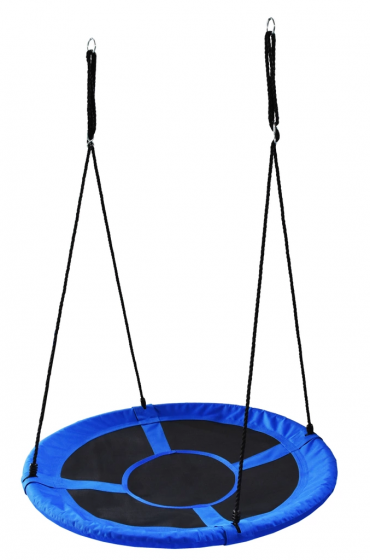 Leagan Balansoar Rotund Tip Cuib Pentru Curte Gradina Sau Terasa Capacitate Maxima 150kg Diametru 100cm Culoare Albastru Carrefour Romania