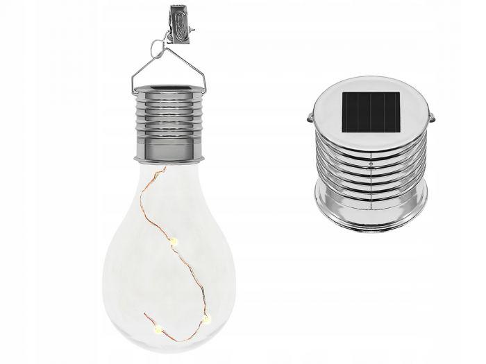 Lampa Solara Ornamentala Tip Bec Cu 4 Led Uri Impermeabil Ip 44 Clema Suport Carrefour Romania