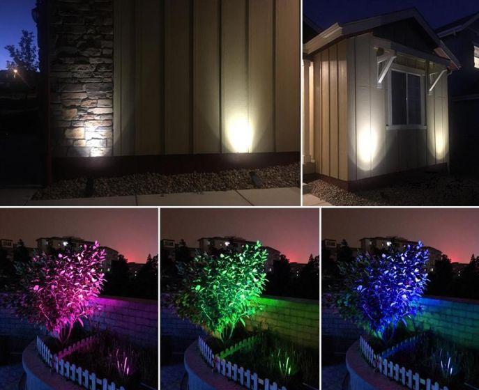 Lampa Solara Tip Proiector Led Rgb Multicolor Pentru Curte Sau Gradina Carrefour Romania