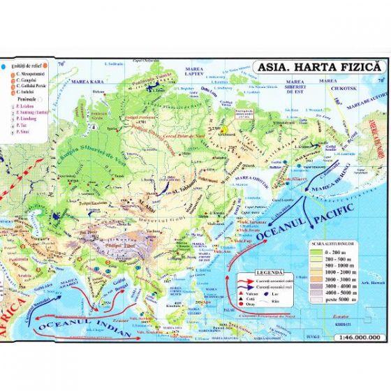 Carrefour Romania Asia Harta Fizica Harta Politica 1 46 000