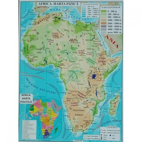 Carrefour Romania Africa Australia Harta Fizica A3