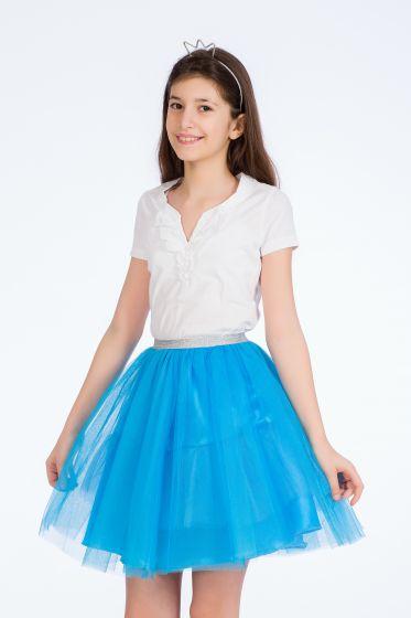 salvați obține nou vânzare Carrefour Romania   Fusta Be You, albastra