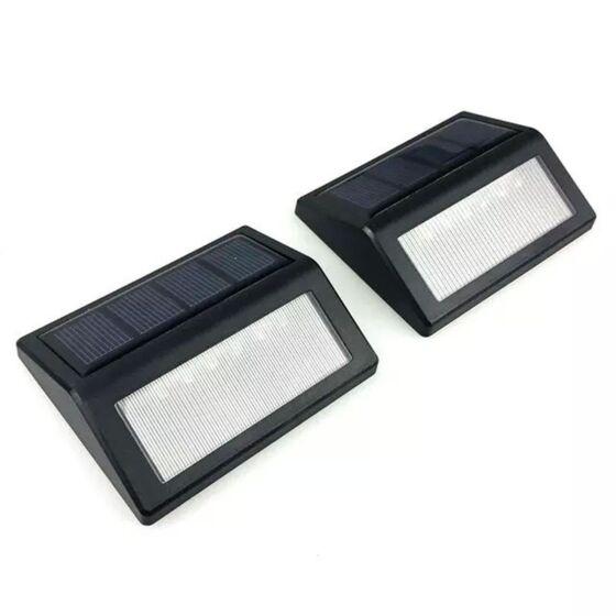 Set 2 Lampi Solare Pentru Trepte Led Lumina Rece Lixada Carrefour Romania